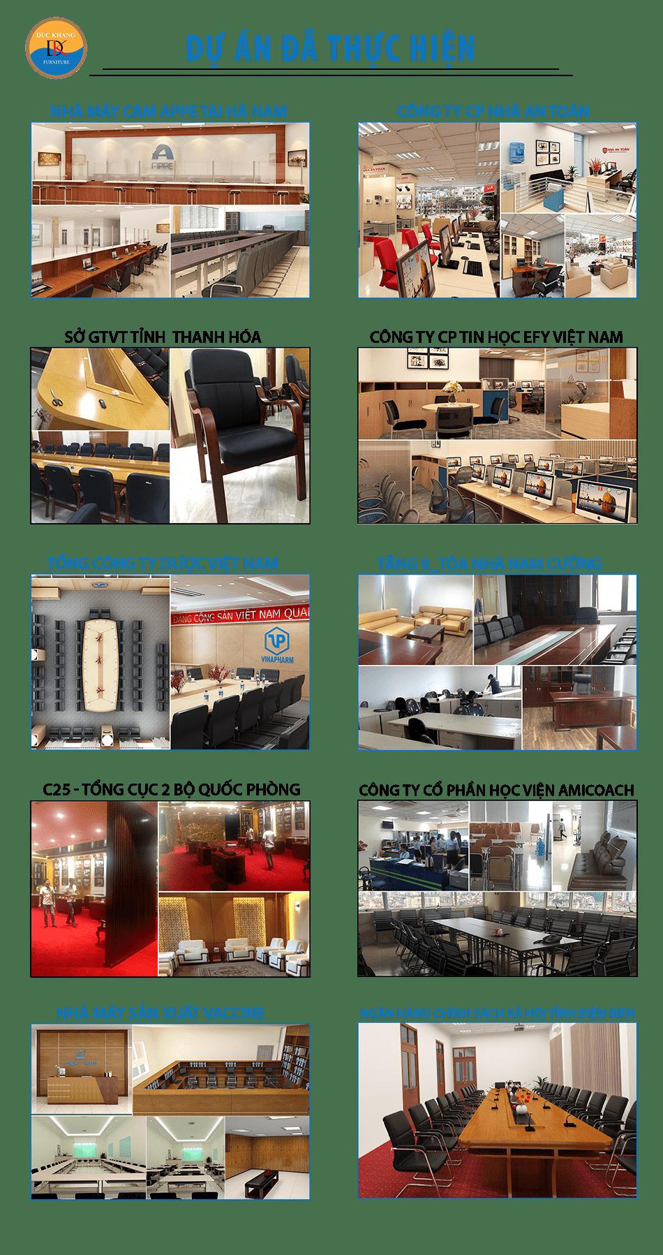Các dự án thiết kế văn phòng đã thi công