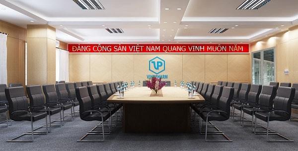 Không gian phòng họp Tổng công ty Dược sau khi hoàn thành thi công