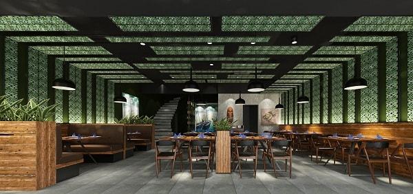 Không gian chung của nhà hàng