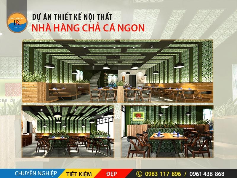 Thiết Kế Nội Thất Nhà Hàng Chả Cá Ngon 57 Phan Chu Trinh, Hà Nội