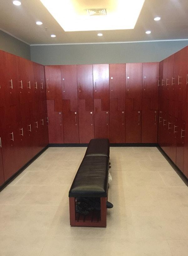 Tổng quát không gian phòng thay đồ