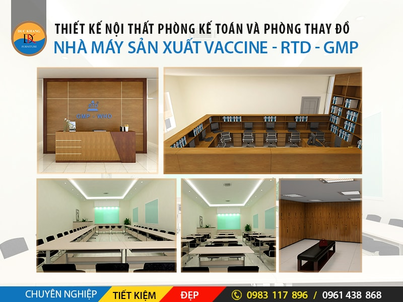 Thiết Kế Nội Thất Văn Phòng Nhà Máy Vaccine - RTD – GMP