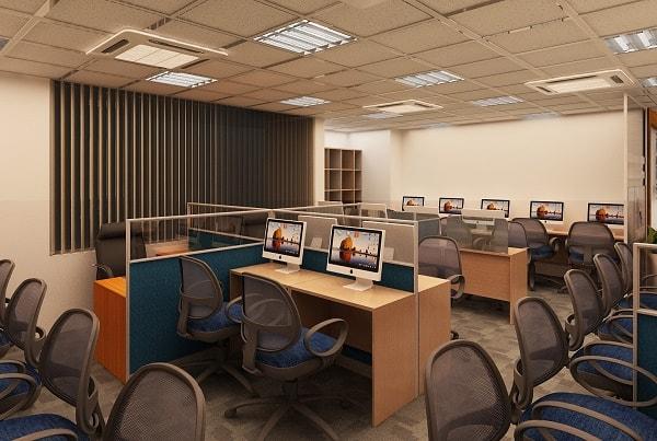 Không gian phòng làm việc công ty EFY sau khi hoàn thành