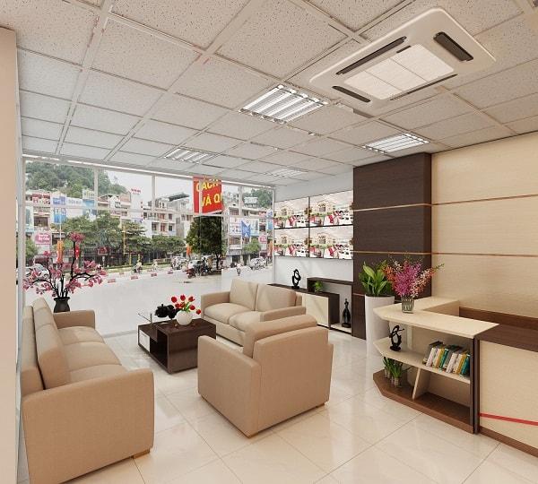 Không gian phòng khách hàng trở nên sang trọng, chuyên nghiệp cùng bộ ghế tiếp khách