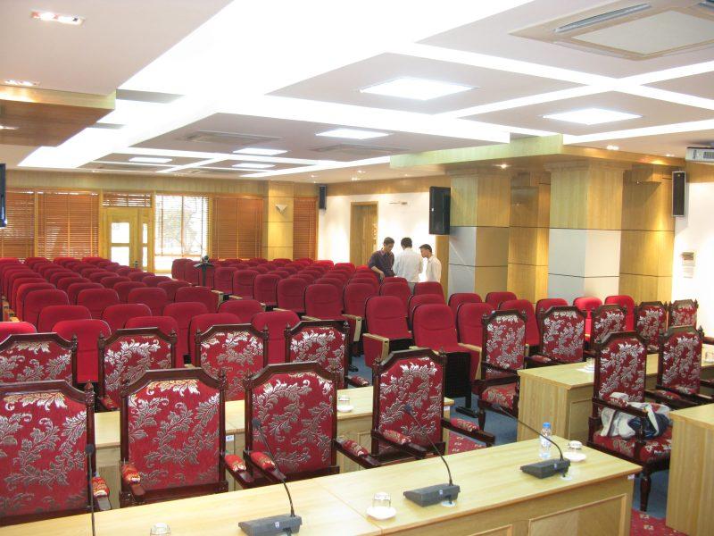 Ghế hội trường được bố trí là loại ghế nhập khẩu cao cấp
