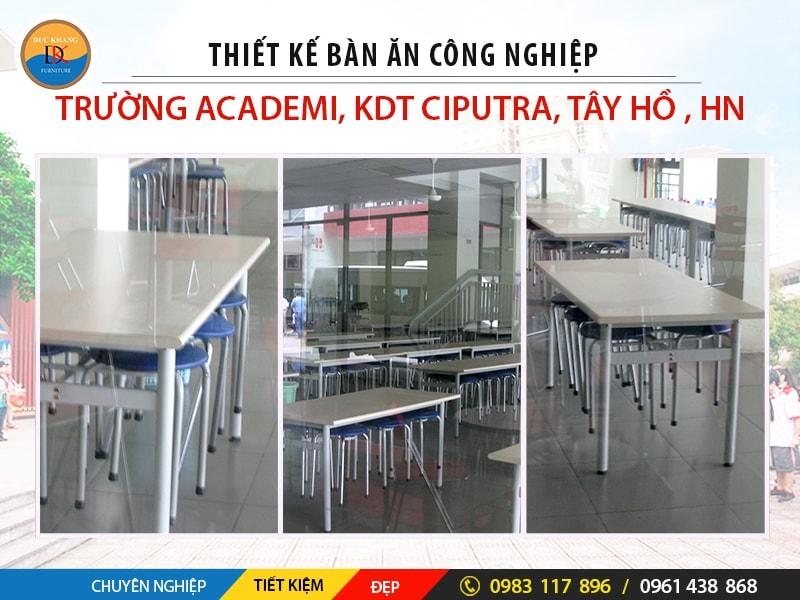 Thiết Kế Hội Trường, Phòng ăn Trường Academy Tây Hồ, Hà Nội