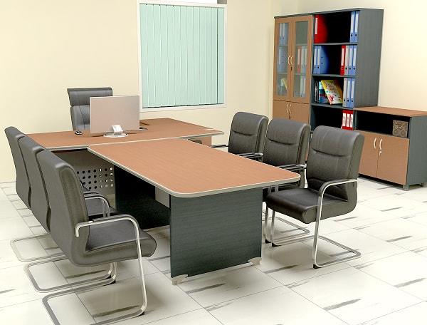 Phòng trưởng phòng được bố trí tương đối đơn giản nhưng vẫn đẹp mắt