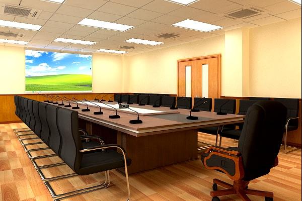 Phòng họp tại nhà máy nhiệt điện Mông Dương