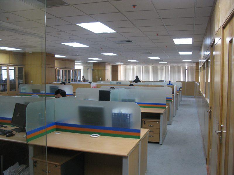Không gian phòng làm việc cho nhân viên