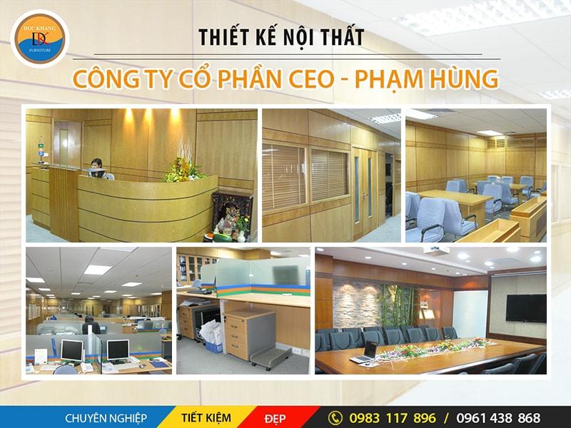 Thiết Kế Nội Thất Văn Phòng Công Ty Cổ Phần CEO Phạm Hùng, Hà Nội