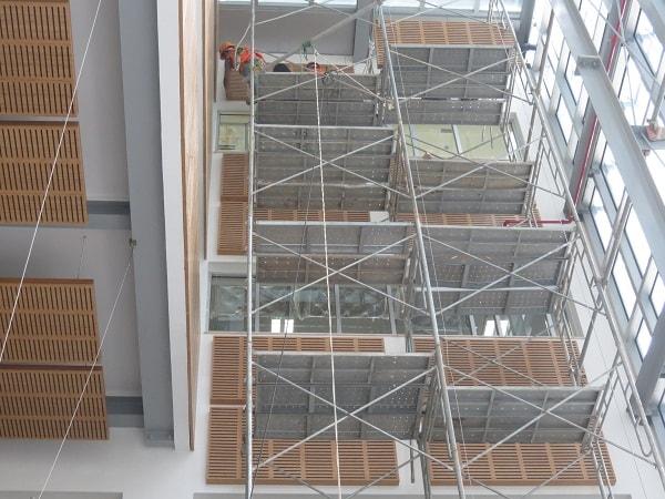 Sảnh tòa nhà Liên Hợp quốc Việt Nam đang thi công