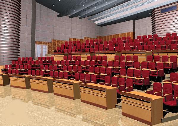 Thiết kế bố cục cho hội trường 300 chỗ ngồi