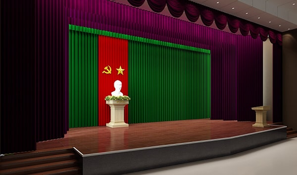 Sân khấu hội trường 300 chỗ ngồi