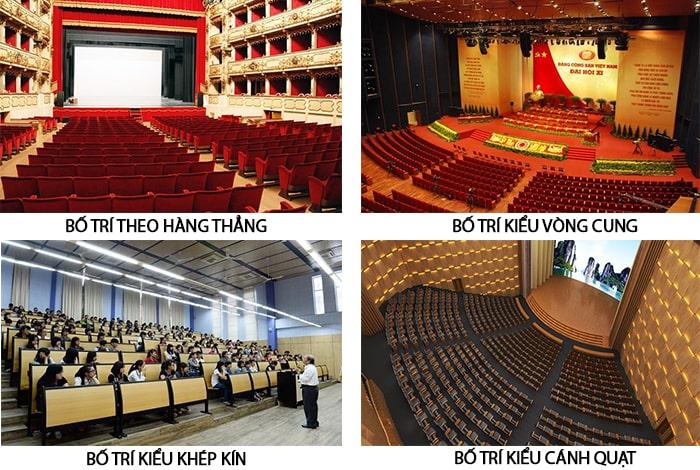 Bố trí nội thất cho phòng hội trường 300 chỗ ngồi