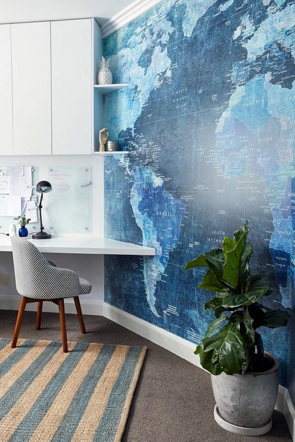 Văn phòng với bức tường độc đáo
