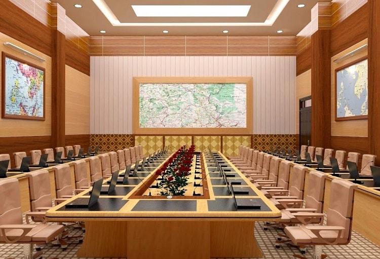 Phòng họp thể hiện hình ảnh và thương hiệu của doanh nghiệp
