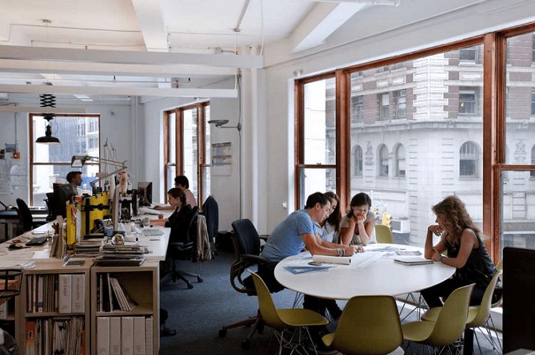Không gian làm việc nhóm độc đáo sẽ kích thích nhóm làm việc hiệu quả hơn
