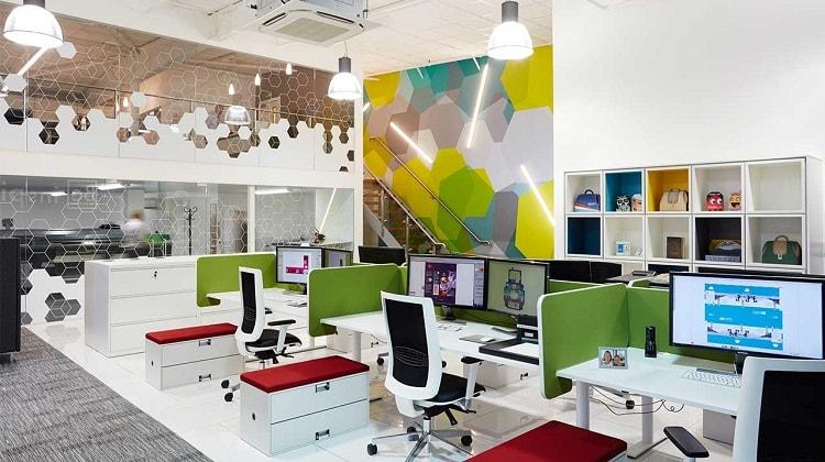 Văn phòng với rất nhiều màu sắc bắt mắt