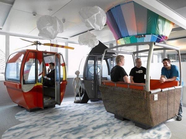 Căn phòng khinh khí cầu tại trụ sở Google