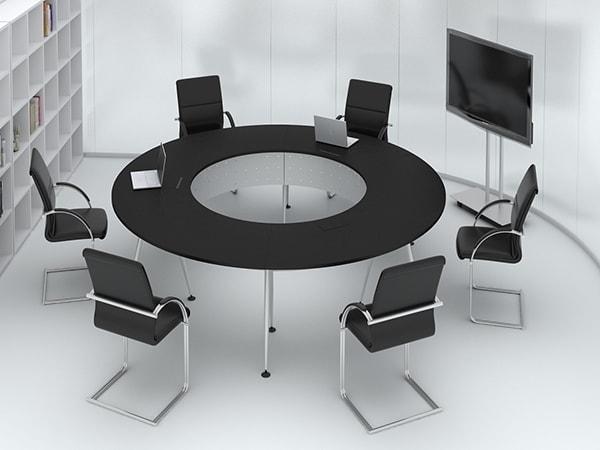 Setup phòng họp kiểu bàn tròn