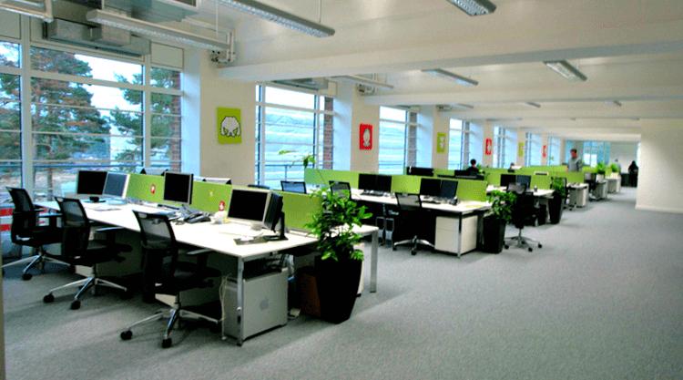 Văn phòng mở tạo không gian làm việc sáng tạo