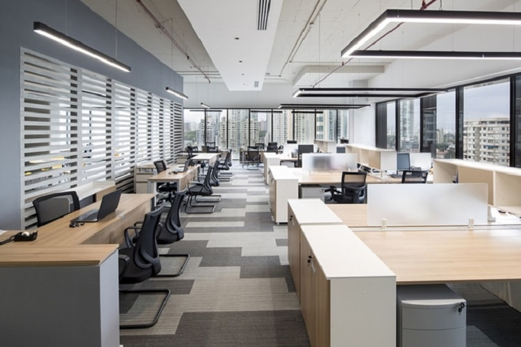 Thiết kế văn phòng mở tạo không gian thoáng cho văn phòng