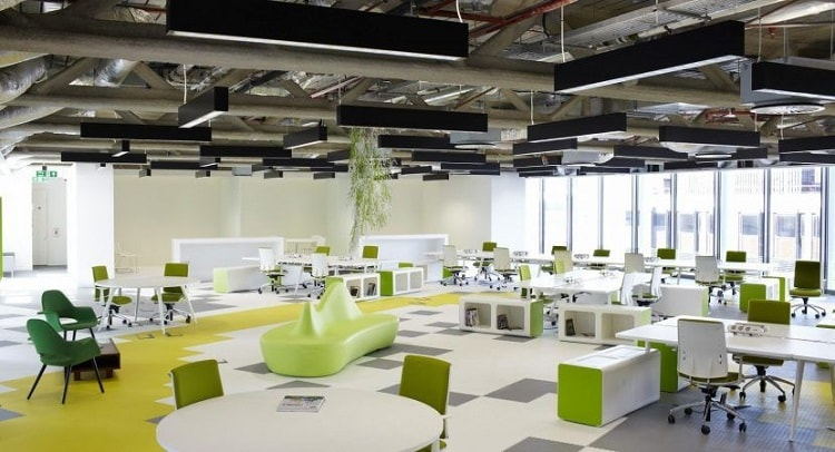 Văn phòng mở cần bố trí nội thất khoa học, hợp lý