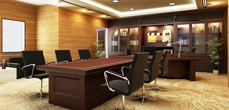 Phòng giám đốc nên có thiết kế thông thoáng và sang trọng