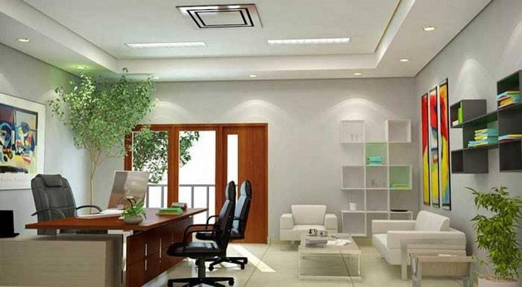 Cây xanh giúp không gian phòng làm việc thêm mát mẻ