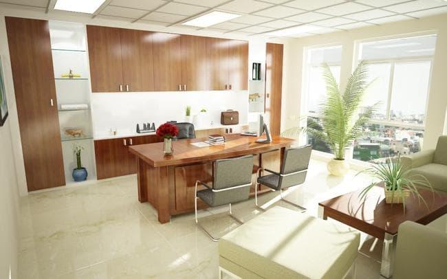 Phòng làm việc cho giám đốc cần có sự đầu tư trong thiết kế kiến trúc và nội thất