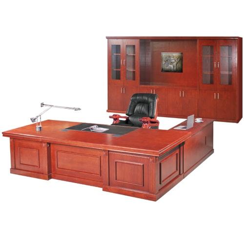 Bộ bàn tủ giám đốc Hòa Phát V8