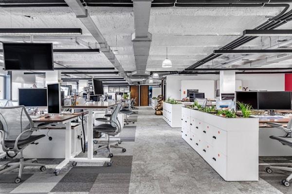Không gian làm việc độc lập tạo sự riêng tư cho người làm việc