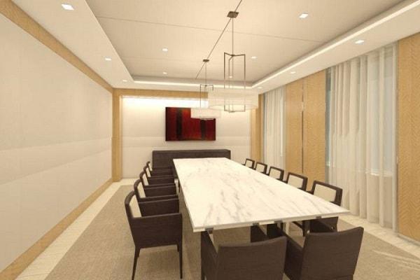 Phòng họp phải được thiết kế nội thất hợp lý