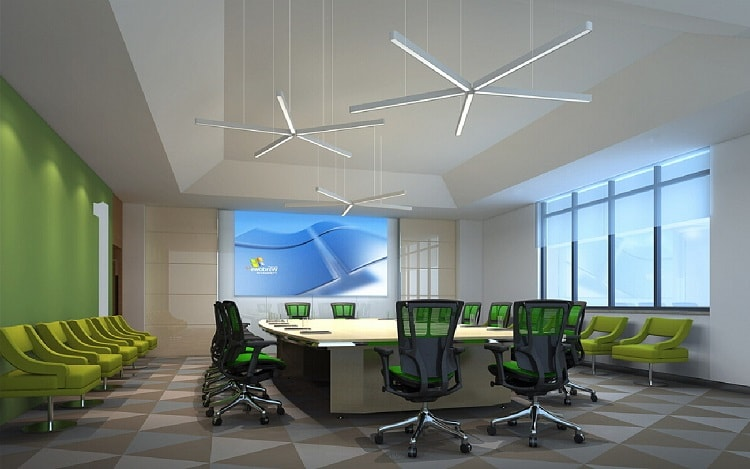 Thiết kế phòng họp hiện đại chiếm được thiện cảm của nhiều người