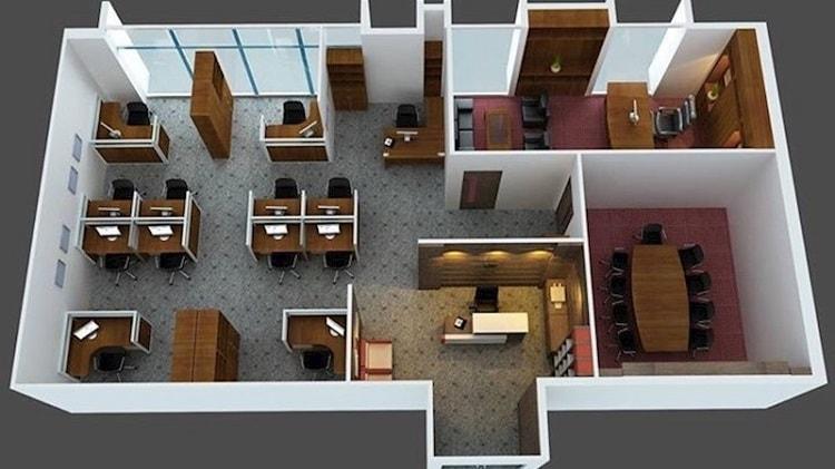 Thiết kế văn phòng chung cư