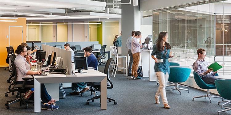 Thiết kế văn phòng mở là xu hướng thiết kế hiện nay