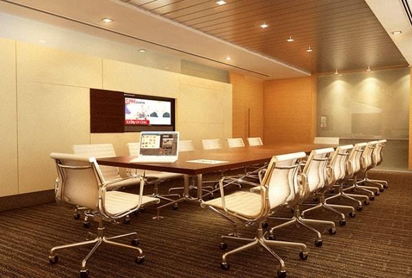 Phòng họp phải đảm bảo phù hợp với từng không gian và chức năng