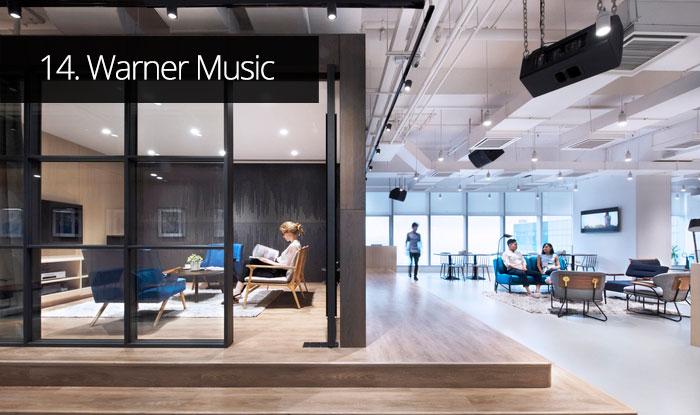 Thiết kế văn phòng Warner Music