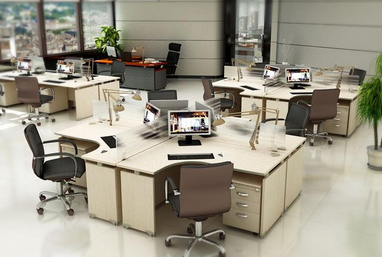 Thiết kế nội thất văn phòng khoa học, hợp lý tạo tính chuyên nghiệp của công ty