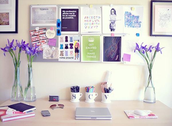 Phòng làm việc đẹp hơn nhờ có đồ handmade