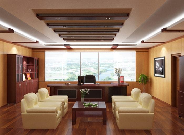 Thiết kế phòng giám đốc tuổi Mão cần lưu ý chọn màu sắc và hình dáng bàn làm việc phù hợp