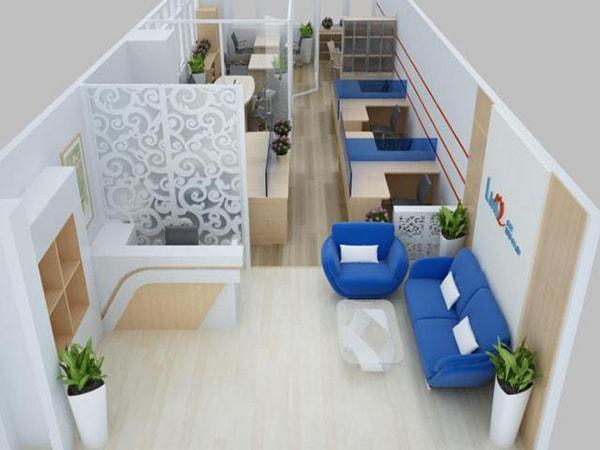 Thiết kế văn phòng 40m2 nên chọn phong cách hiện đại và tối giản
