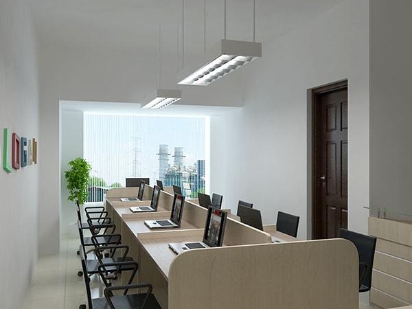Thiết kế văn phòng 40m2 nên chọn tông màu sáng cho cả không gian