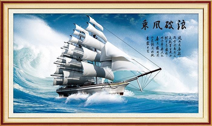Tranh thuyền buồm treo tường phòng giám đốc