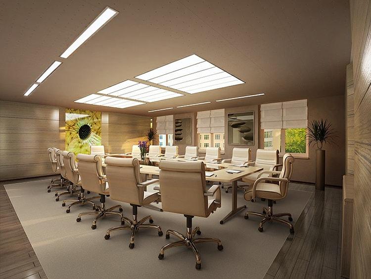 Bàn họp phải phù hợp với kích thước không gian phòng họp