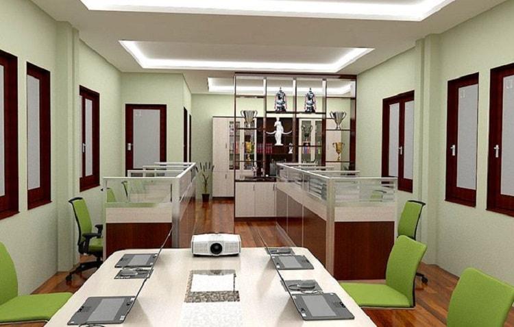 Mẫu thiết kế cho văn phòng tích hợp nhiều chức năng