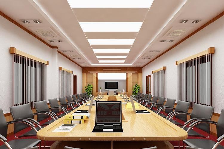 Phòng họp cần có ánh sáng đảm bảo
