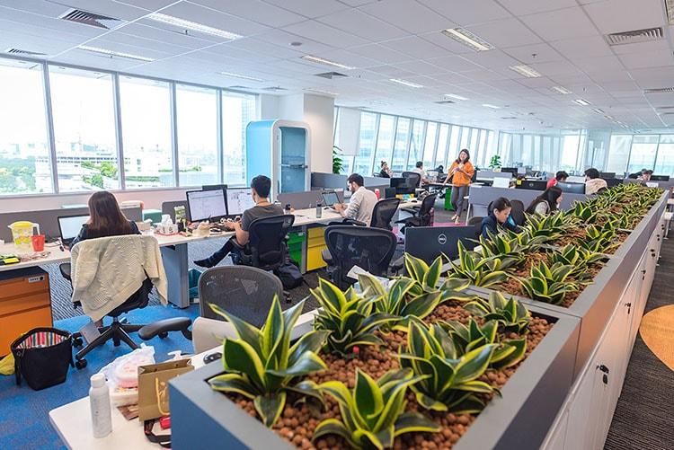 Thiết kế văn phòng làm việc của Garena theo hướng mở