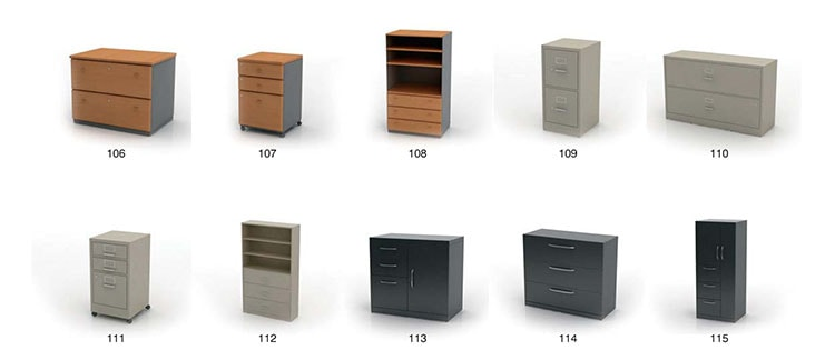Hộc tủ di động giúp chứa đựng tài liệu quan trọng để trong tầm tay