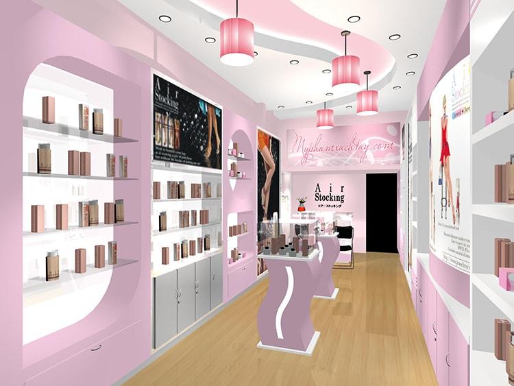 Trang trí nội thất showroom cần nhấn mạnh về yếu tố màu sắc